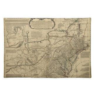 Mapa de colonias británicas en América (1771) Manteles