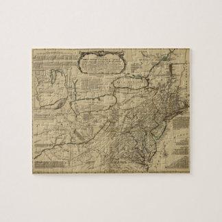 Mapa de colonias británicas en América (1771) Puzzle Con Fotos