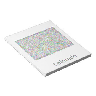 Mapa de Colorado Bloc De Notas