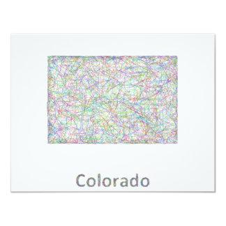 """Mapa de Colorado Invitación 4.25"""" X 5.5"""""""