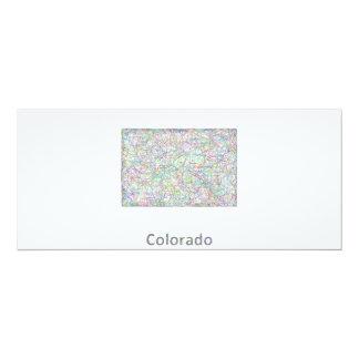 """Mapa de Colorado Invitación 4"""" X 9.25"""""""