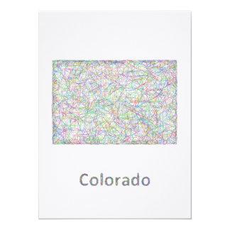"""Mapa de Colorado Invitación 5.5"""" X 7.5"""""""