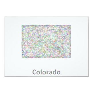"""Mapa de Colorado Invitación 5"""" X 7"""""""
