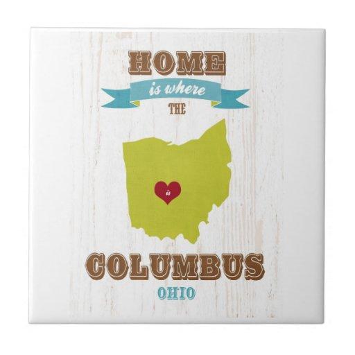 Mapa de Columbus, Ohio - casero es donde está el c Teja