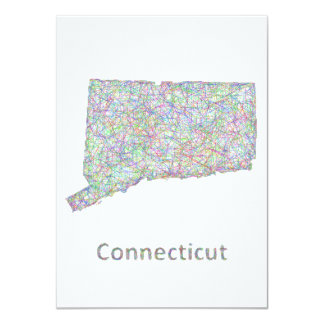 """Mapa de Connecticut Invitación 4.5"""" X 6.25"""""""
