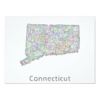 """Mapa de Connecticut Invitación 6.5"""" X 8.75"""""""