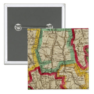 Mapa de Connecticut Pin Cuadrado
