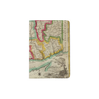 Mapa de Connecticut Porta Pasaporte