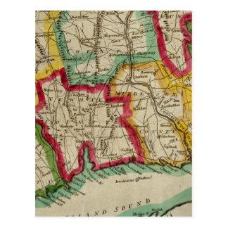 Mapa de Connecticut Postales