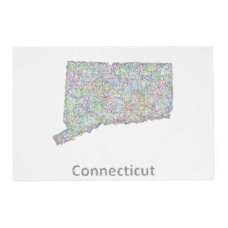 Mapa de Connecticut Tapete Individual