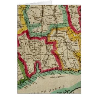 Mapa de Connecticut Tarjeta