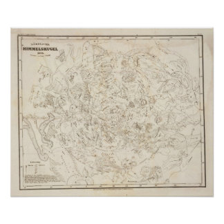 Mapa de constelaciones póster