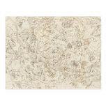 Mapa de constelaciones tarjetas postales