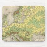 Mapa de contorno de Europa Alfombrilla De Raton