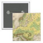 Mapa de contorno de Europa Pin Cuadrado