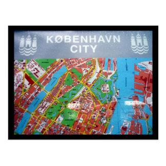mapa de Copenhague Tarjetas Postales