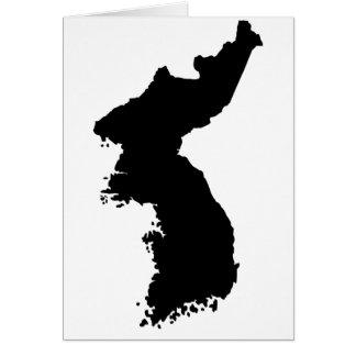 Mapa de Corea Tarjeta De Felicitación