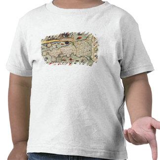 Mapa de Cornualles Camisetas