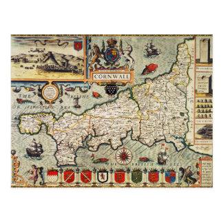 Mapa de Cornualles Postal