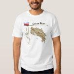 Mapa de Costa Rica + Bandera + Camiseta del título Remera