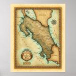 Mapa de Costa Rica Impresiones