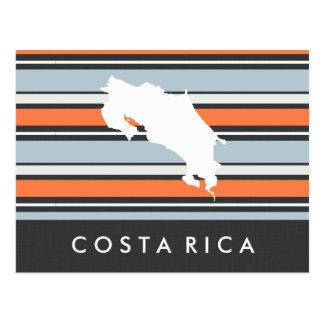 Mapa de Costa Rica: Rayas modernas Postal