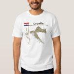 Mapa de Croacia + Bandera + Camiseta del título Poleras