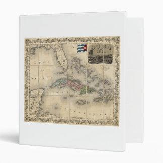 "Mapa de Cuba de J.H. Colton (1851) Carpeta 1"""