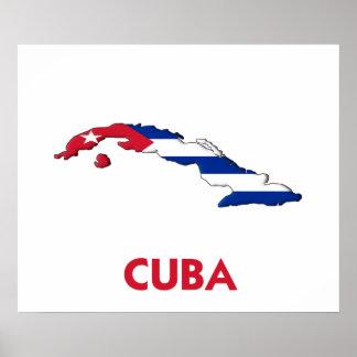 MAPA DE CUBA PÓSTER