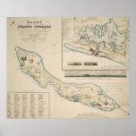 Mapa de Curaçao 1836 Posters