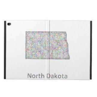 Mapa de Dakota del Norte