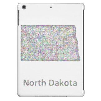 Mapa de Dakota del Norte Funda Para iPad Air