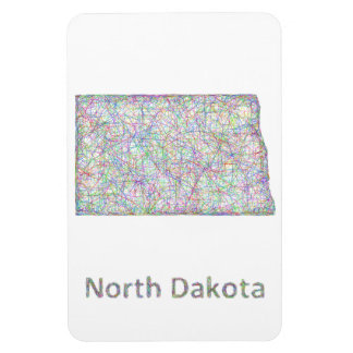 Mapa de Dakota del Norte Iman