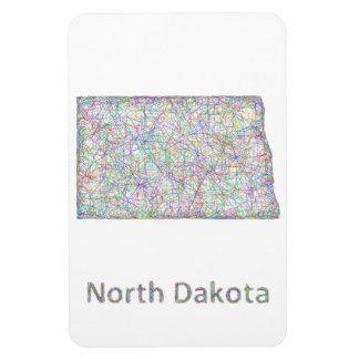 Mapa de Dakota del Norte Imanes
