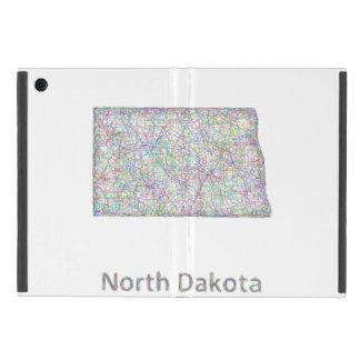 Mapa de Dakota del Norte iPad Mini Protector