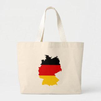 Mapa DE de la bandera de Alemania Bolsa Tela Grande
