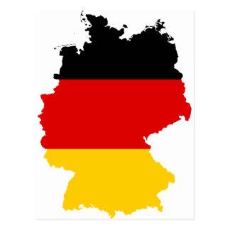 Mapa DE de la bandera de Alemania Tarjetas Postales