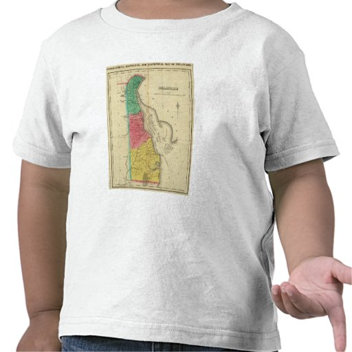 Mapa de Delaware Camisetas