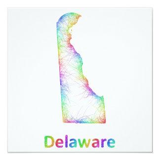 """Mapa de Delaware del arco iris Invitación 5.25"""" X 5.25"""""""