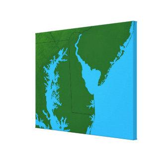 Mapa de Delaware Impresion En Lona