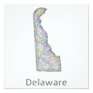 """Mapa de Delaware Invitación 5.25"""" X 5.25"""""""