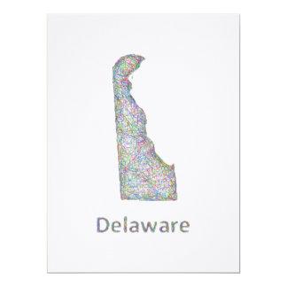 """Mapa de Delaware Invitación 6.5"""" X 8.75"""""""