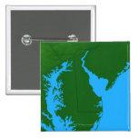 Mapa de Delaware Pin Cuadrado