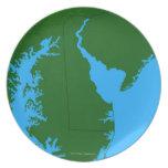 Mapa de Delaware Plato De Cena