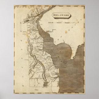 Mapa de Delaware por Arrowsmith Impresiones