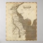 Mapa de Delaware por Arrowsmith Póster
