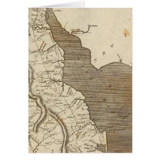 Mapa de Delaware por Arrowsmith Tarjetón