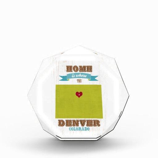 Mapa de Denver, Colorado - casero es donde está el