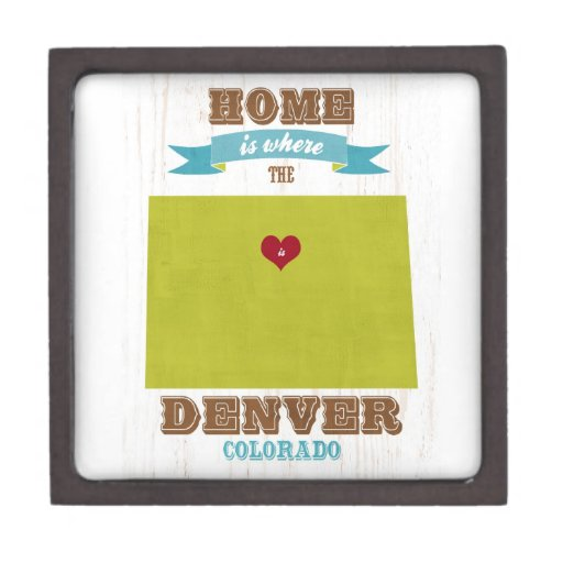 Mapa de Denver, Colorado - casero es donde está el Caja De Recuerdo De Calidad