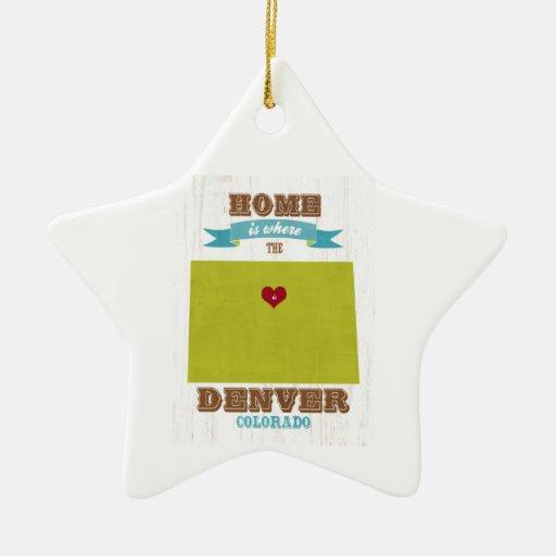 Mapa de Denver, Colorado - casero es donde está el Adornos